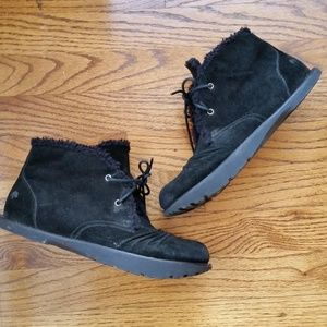Earth Kalso Nomad Ankle Boots Black Suede S7